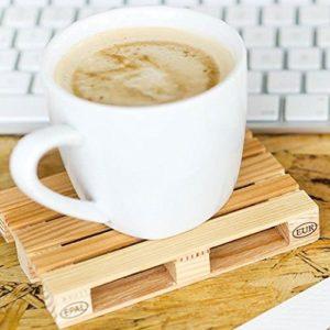 dessous de verre en palette pour poser son café
