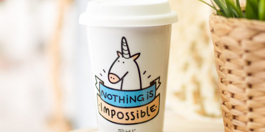 mug licorne mr. wonderful nothing is impossible